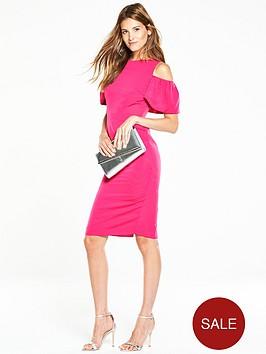 v-by-very-volume-shoulder-dress