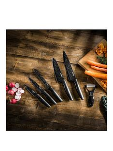 tower-essentials-stone-coated-6-piece-knife-set-in-black