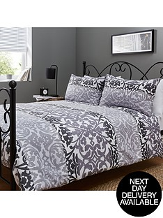 catherine-lansfield-ombre-damask-duvet-set-black