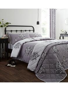 catherine-lansfield-floral-bouquet-duvet-set-grey