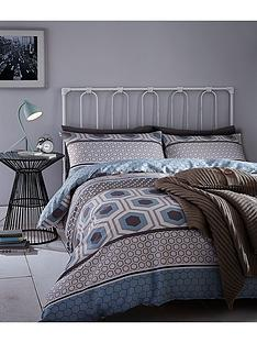 catherine-lansfield-retro-bands-duvet-set-greyblue