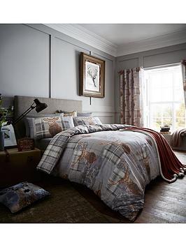 catherine-lansfield-heritage-stag-duvet-set-grey