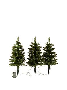 set-of-3-prelit-walkway-christmas-trees