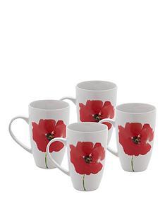 sabichi-poppy-set-of-4-mugs