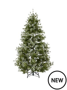 7ft-needle-flocked-pear-shaped-christmas-tree