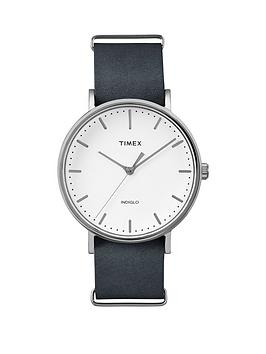 Timex Timex Weekender Fairfield White Dial Black Strap Unisex Watch
