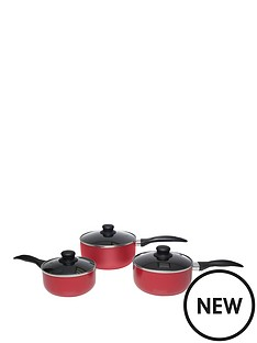 sabichi-red-aluminium-3pc-pan-set