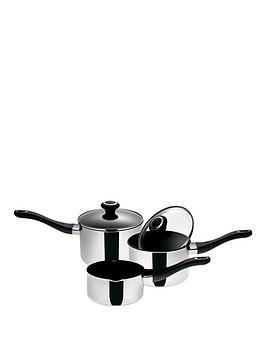 Prestige Create 3Piece Stainless Steel Pan Set
