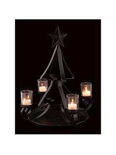 christmas-tree-shaped-tealight-holder-in-black