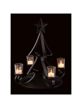 christmas-tree-shaped-tealight-holder-in-black