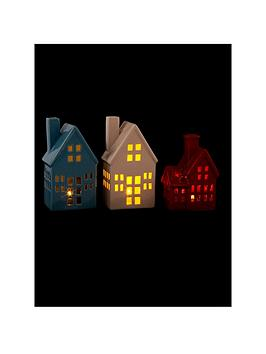 porcelain-led-house-christmas-decorations-set-of-3