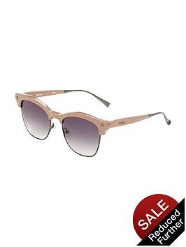 max-mara-clubmaster-sunglasses-beige