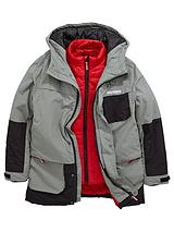 Boys 2 In 1 Hooded Jacket with Inner Gilet