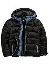 Boys Double Hood Mock Two In One Padded Jacket