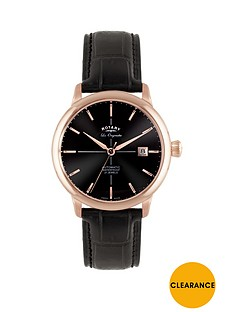 rotary-rotary-classic-swiss-movement-black-dial-rose-plated-case-black-leather-strap-mens-watch