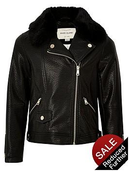 river-island-girls-faux-fur-collar-biker-jacket