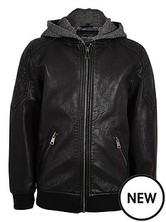 river-island-boys-hooded-leather-look-bomber-jacket