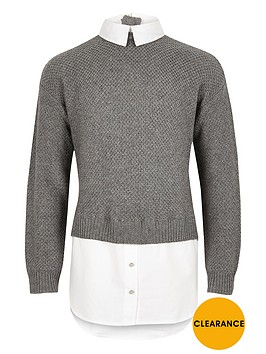 river-island-girls-grey-layered-shirt-jumper