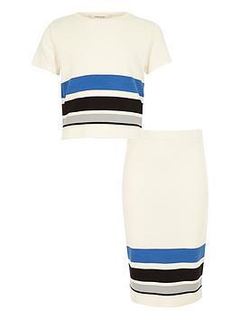 river-island-girls-stripe-t-shirt-and-tube-skirt-set