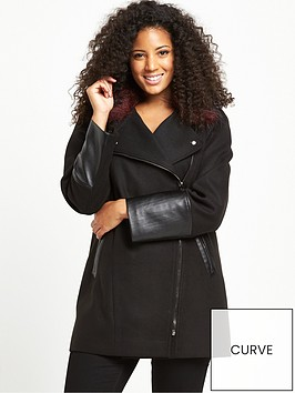 v-by-very-curve-contrast-fur-asymmetric-zip-coat