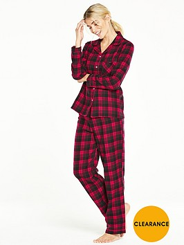 v-by-very-flannel-pj-set