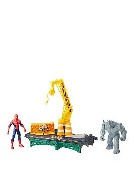 Marvel Spiderman Web City Rhino Rampage Set