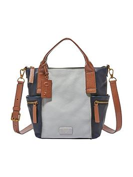 Fossil Fossil Emerson Medium Leather Colourblock Tote