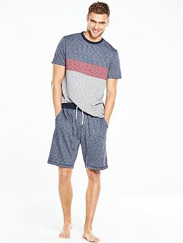 v-by-very-short-sleeve-colour-block-pj-set