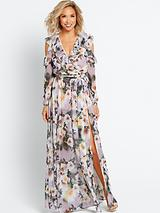Deep V Front Maxi Dress