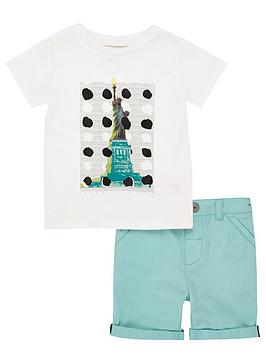 river-island-mini-boys-statue-of-liberty-tee-and-chino-shorts-set