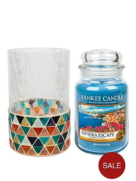 yankee-candle-corisca-mosaic-jar-holder-amp-large-jar-candle--nbspriveria-escape