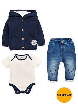 ladybird-baby-boys-3pc-hooded-knit-cardigan-bodysuit-and-jean-set