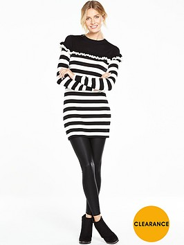 v-by-very-stripe-frill-detail-knitted-tunic