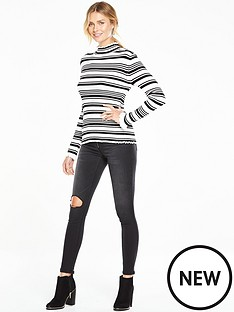 v-by-very-roll-neck-frill-collar-skinny-rib-jumpernbsp
