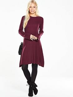 v-by-very-crew-neck-bell-sleeve-trapeze-swing-dress