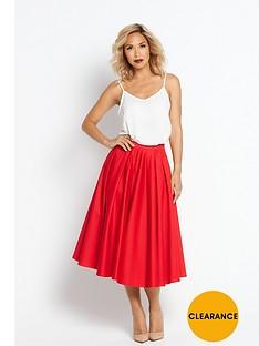 myleene-klass-full-circle-skirt-red