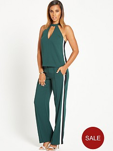 rochelle-humes-side-stripe-camisole-green