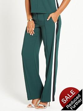 rochelle-humes-side-stripe-trouser-green