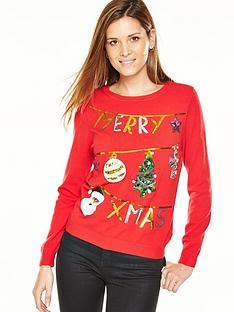 v-by-very-merry-xmas-washing-line-embellished-jumper