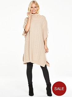 v-by-very-cable-knit-poncho