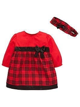 ladybird-baby-girls-party-tartan-dress-with-headband