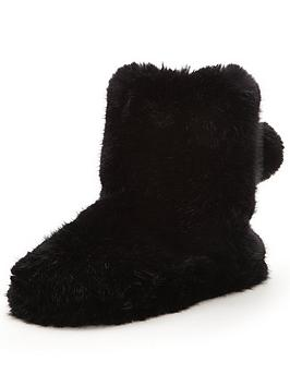 ted-baker-hamond-fluffy-slipper-boot-black
