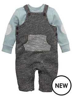 ladybird-baby-boys-textured-dungaree-and-tee-set