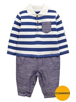 ladybird-baby-boys-smart-polo-romper
