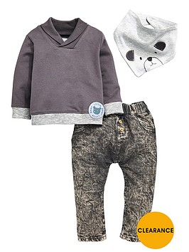 ladybird-baby-boys-3pc-sweat-bib-and-jean-set