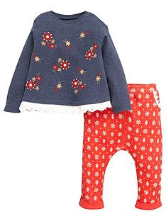 ladybird-baby-girls-floral-embroidered-and-printed-set
