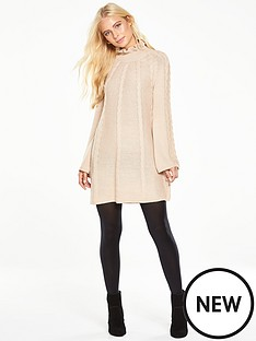 v-by-very-cable-knit-swing-dress