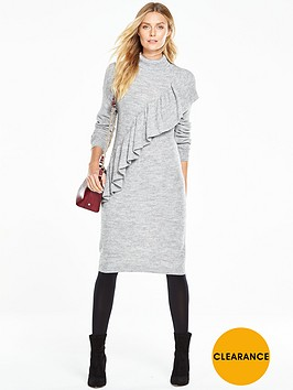 v-by-very-oversized-frill-chunky-knit-dress