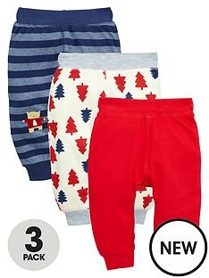 ladybird-baby-boys-interlock-christmas-joggers-3-pack
