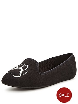 ted-baker-ayaya-french-bulldog-slipper-black